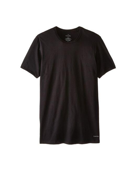 CALVIN KLEIN 205W39NYC - Black Short Sleeve Cotton Classic Slim Fit Crew for Men - Lyst