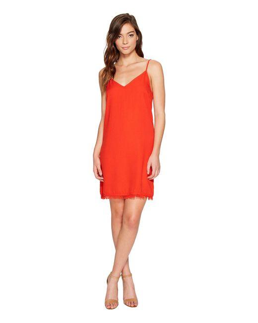 Splendid   Red Rayon Crepe Slip Dress   Lyst