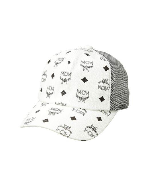 c25e175cd3d Lyst - MCM Visetos Mesh Cap (black 1) Caps in White for Men - Save 4%
