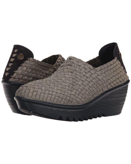 Bernie Mev - Gray Gem (black/black Velvet) Women's Wedge Shoes - Lyst