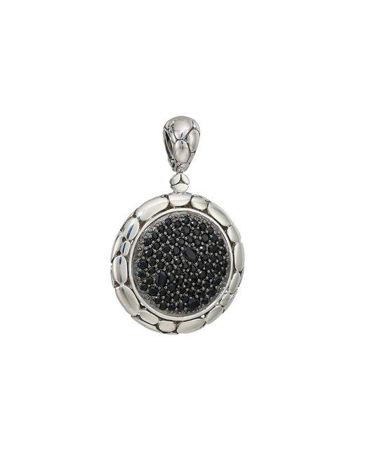John Hardy - Metallic Kali Purelavafire Medium Round Pendant Necklace With Black Sapphire (silver) Necklace - Lyst
