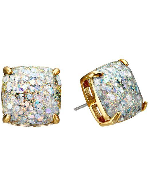 Kate Spade | Metallic Small Square Glitter Stud Earrings | Lyst