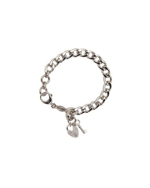 Fossil | Gray Vintage Steel Charm Bracelet | Lyst