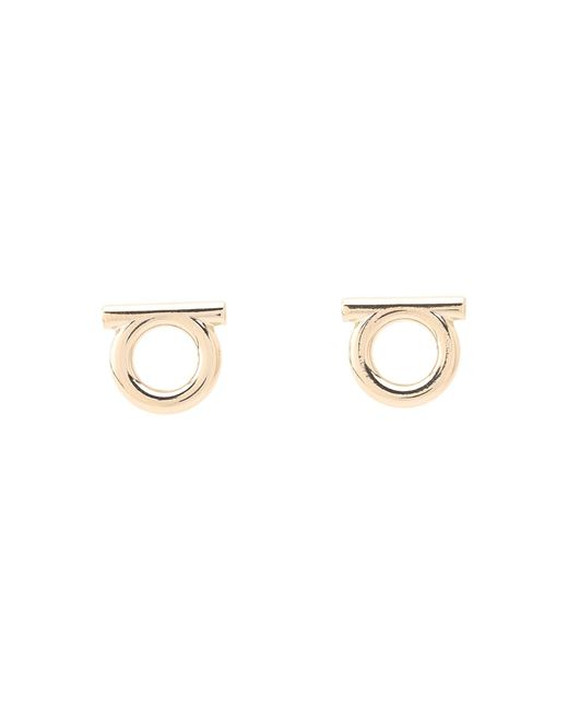 Ferragamo | Metallic Brand Stud Earrings | Lyst