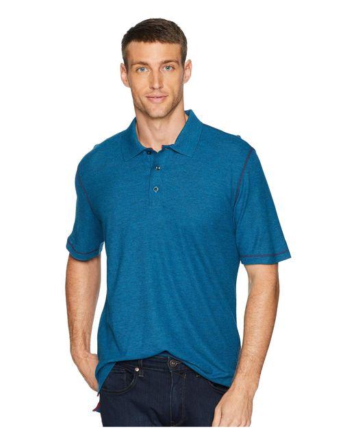 Robert Graham - Messenger Polo (heather Blue) Men's Short Sleeve Pullover for Men - Lyst