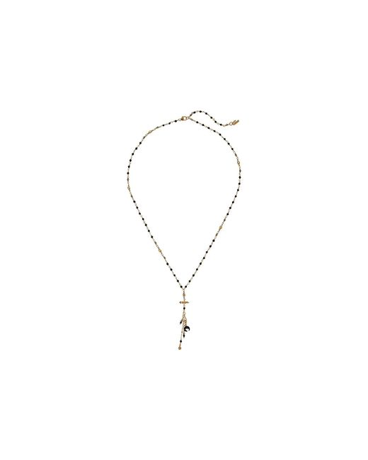 Chan Luu - Mix Charm Short Layering Necklace (black Mix) Necklace - Lyst
