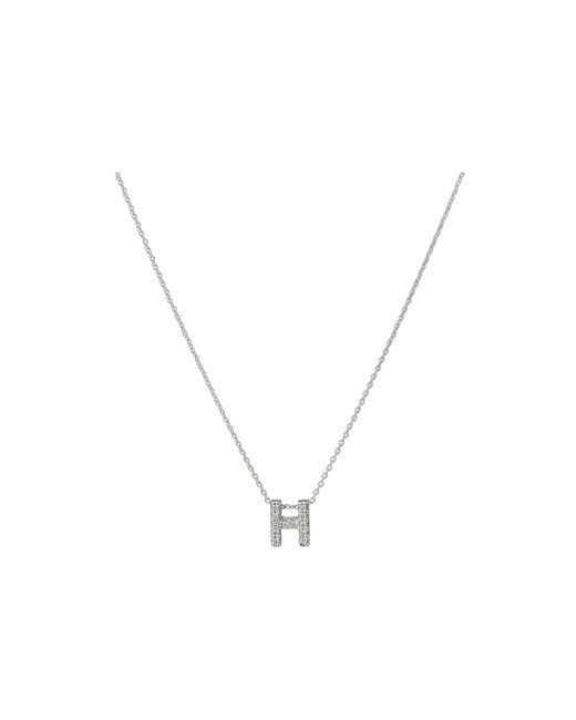 Roberto Coin | White Diamond Initial Necklace | Lyst