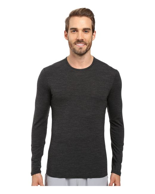 Icebreaker | Black Anatomica Long Sleeve Crewe for Men | Lyst