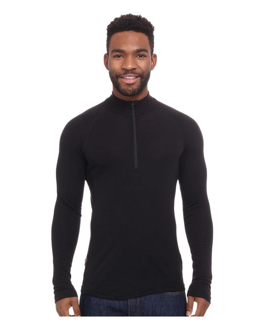 Icebreaker   Black Everyday Long Sleeve Zip for Men   Lyst