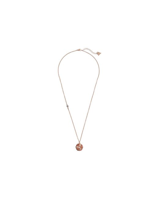 Guess | Pink Cutout Flower Ball Pendant | Lyst