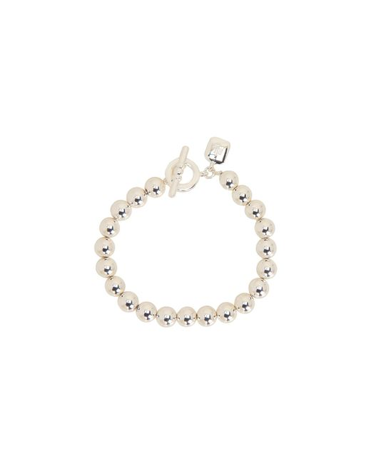 Lauren by Ralph Lauren | Metallic 8mm Beaded Bracelet W/toggle | Lyst
