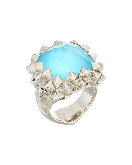 Stephen Webster | Metallic Superstud Small Square Ring | Lyst