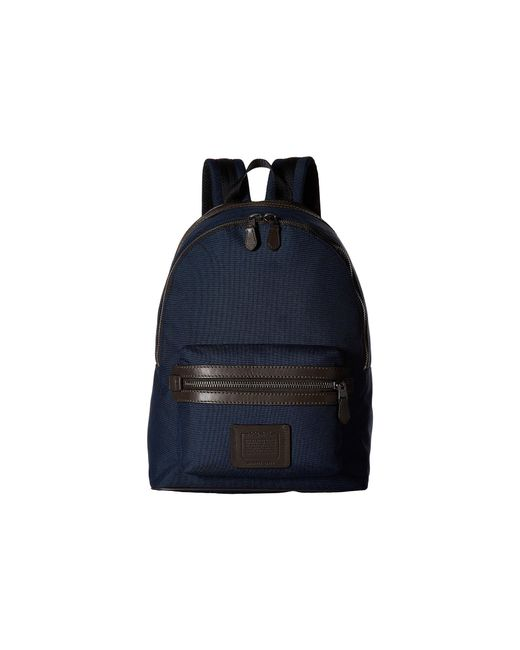 62c7869a9848 ... where can i buy coach blue academy backpack in cordura qb bright navy  chestnut backpack 1c1a4