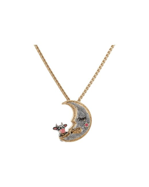 Betsey Johnson   Metallic Moon Pendant Necklace   Lyst