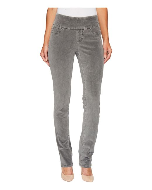 Jag Jeans | Gray Peri Pull-on Pinwale Cord Straight | Lyst