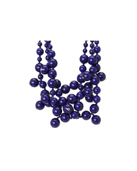 Kenneth Jay Lane | Metallic Multi Bead Necklace | Lyst