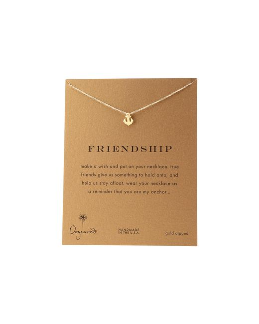 Dogeared | Metallic Friendship Anchor Reminder Necklace | Lyst