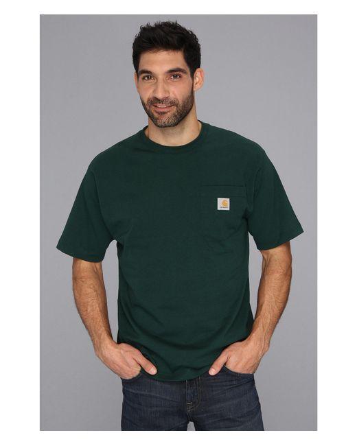 Carhartt   Green Big & Tall Workwear Pocket S/S Tee for Men   Lyst