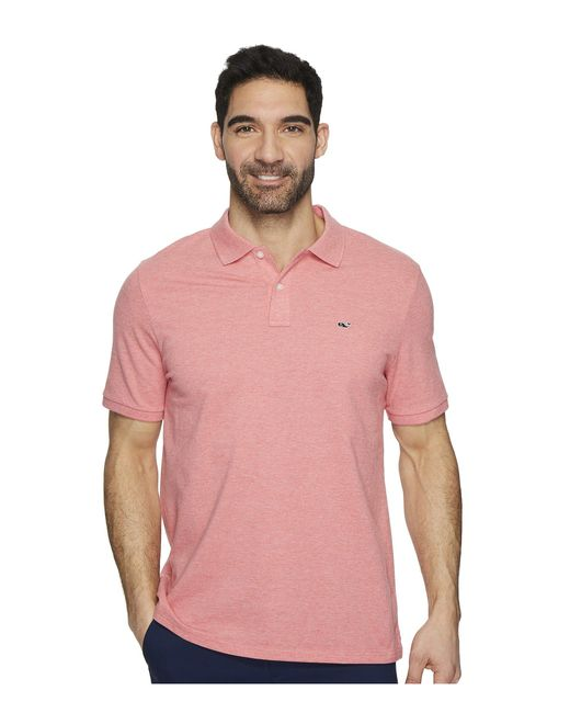 Vineyard Vines - Pink Stretch Pique Heather Polo (gray Heather) Men's Clothing for Men - Lyst