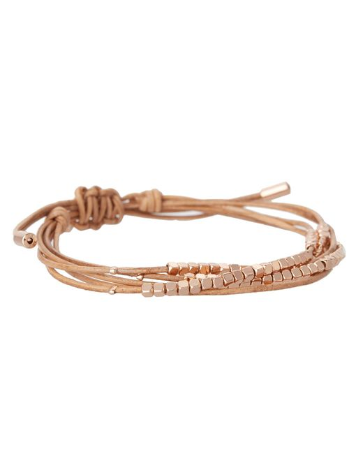 Fossil | Pink Skinny Nugget Wrap | Lyst