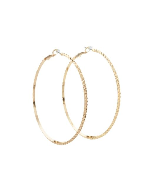 Guess | Metallic Diamond Cut Hoop Earring | Lyst