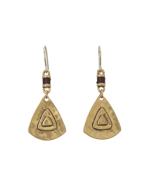 The Sak | Metallic Metal Triangle Drop Earrings | Lyst