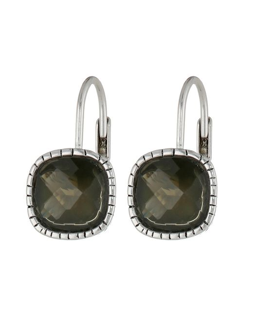 The Sak | Black Cushion Stone Leverback Earrings | Lyst