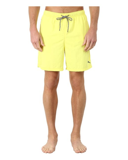 "Tommy Bahama | Yellow The Naples Happy Go Cargo 6"" Swim Trunks for Men 