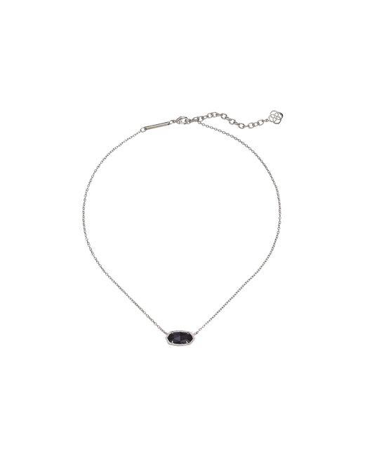 Kendra Scott | Black Elisa Pendant Necklace | Lyst