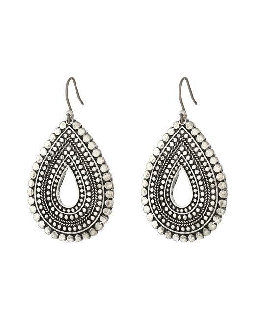 Lucky Brand | Metallic Blue Moon Tear Drop Earrings | Lyst