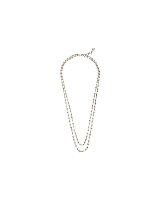 Lucky Brand | Metallic Indigo Trail Double Layer Two-tone Strand Necklace | Lyst