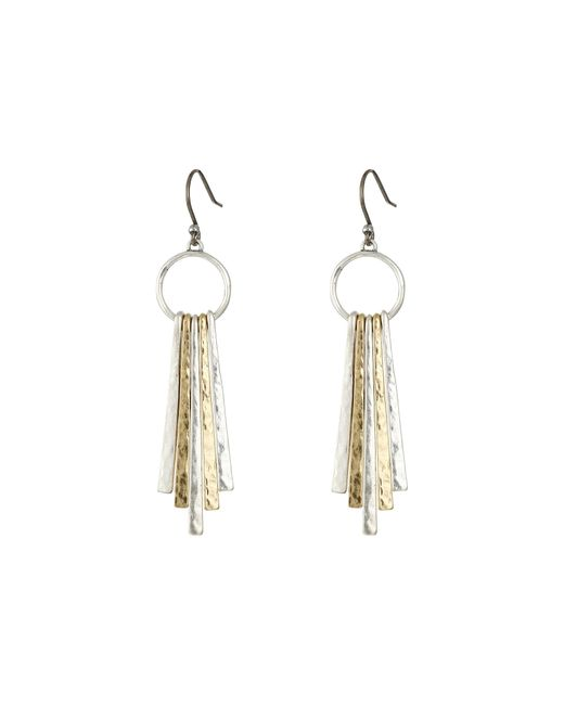 Lucky Brand   Multicolor Metal Paddle Earring   Lyst