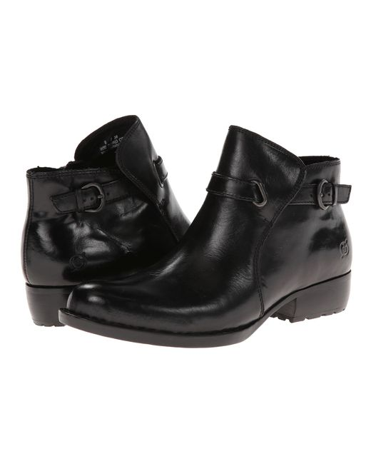 Born | Black Binghamton Buckle Detail Booties | Lyst