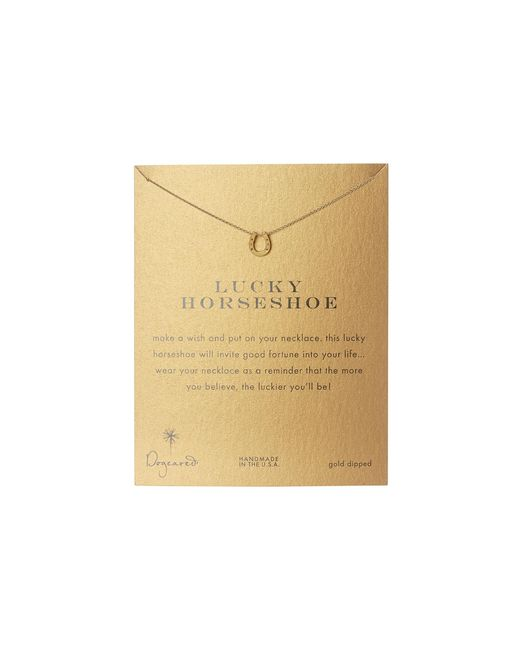 Dogeared | Metallic Lucky Horseshoe Reminder | Lyst