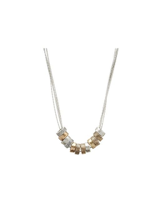 The Sak | Metallic Multi Ring Slider Necklace | Lyst