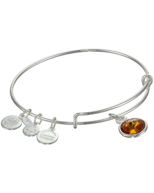 ALEX AND ANI | Metallic November Birthstone Charm Bangle | Lyst