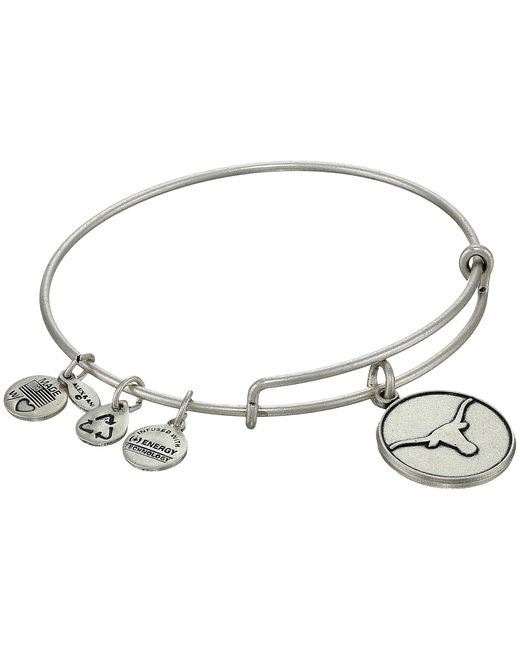 ALEX AND ANI | Metallic University Of Texas Logo Charm Bangle | Lyst