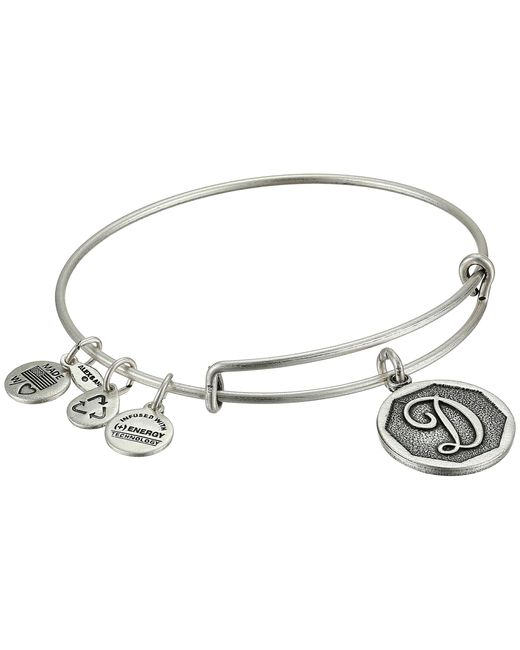ALEX AND ANI | Metallic Initial D Charm Bangle | Lyst