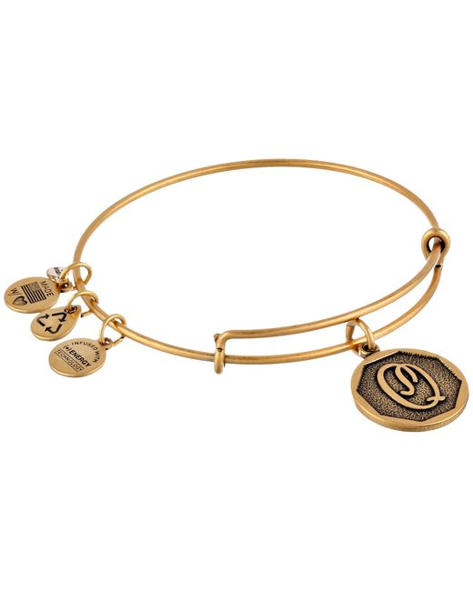 ALEX AND ANI | Metallic Initial Q Charm Bangle | Lyst
