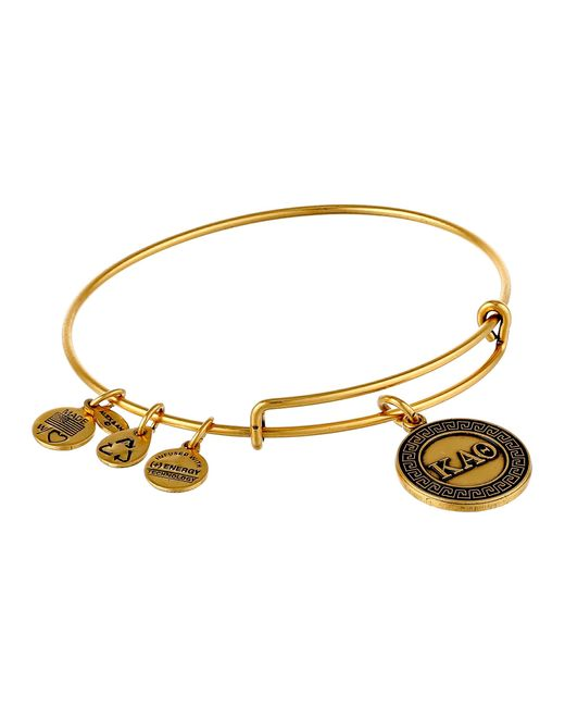 ALEX AND ANI | Metallic Kappa Alpha Theta Charm Bangle | Lyst
