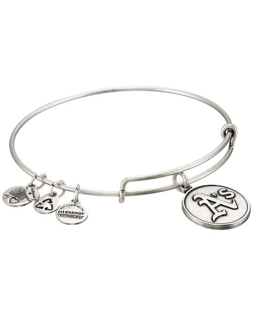 ALEX AND ANI | Metallic Mlb® Oakland Athletics Charm Bangle | Lyst