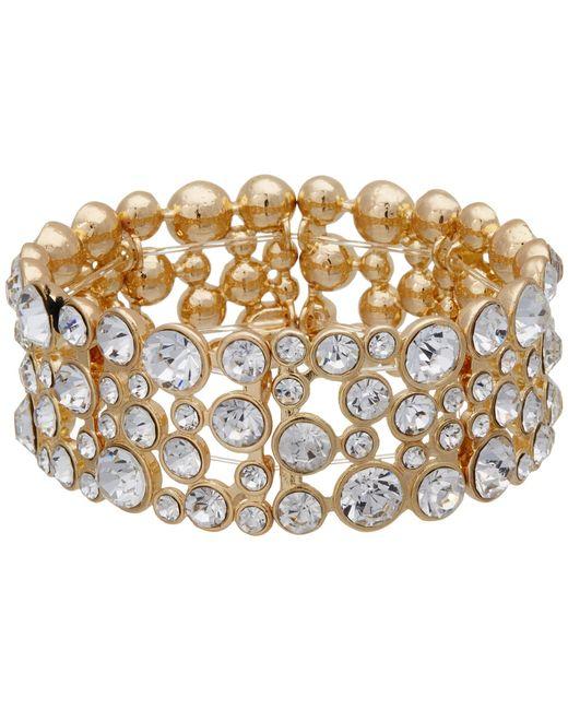 Guess | Metallic Stone Stretch Bracelet | Lyst