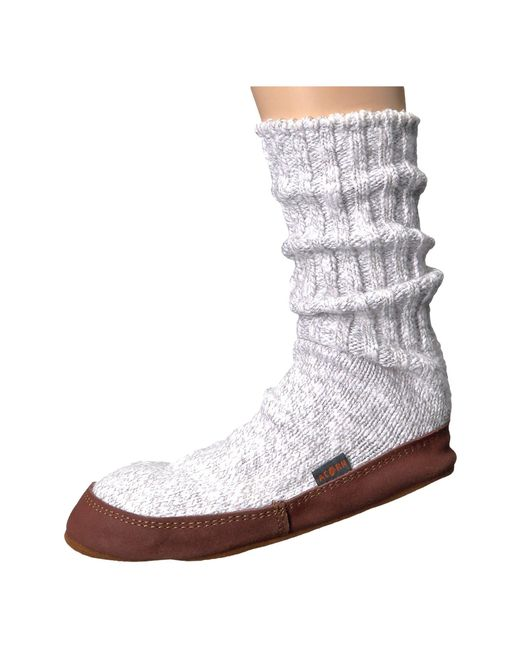 Acorn - Gray Slipper Sock (charcoal Ragg Wool) Shoes for Men - Lyst