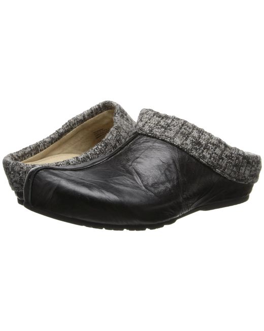 Aetrex | Black Krista Clog Sweater Rim | Lyst