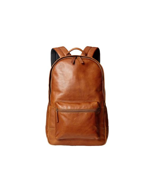 Fossil | Brown Estate Leather Backpack for Men | Lyst