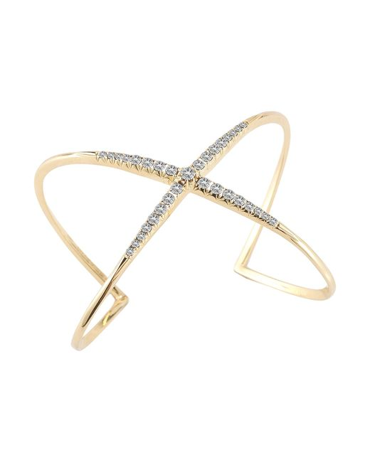 Elizabeth and James | White Windrose Pave Cuff | Lyst