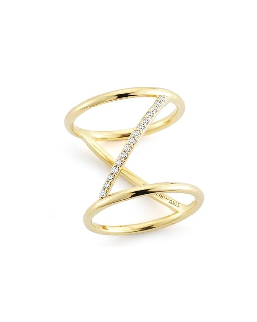 Elizabeth and James | White Velde Ring | Lyst