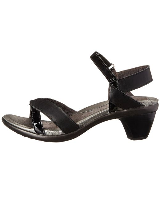 2e2ba95eb863 ... Lyst Naot - Black Cheer (sterling Leather mirror Leather) Women s Dress  Sandals ...