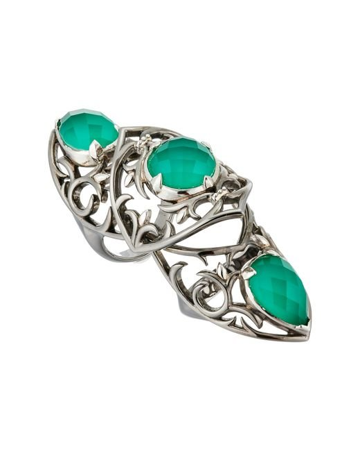 Stephen Webster | Green Les Dents De La Mer Long Finger Ring | Lyst
