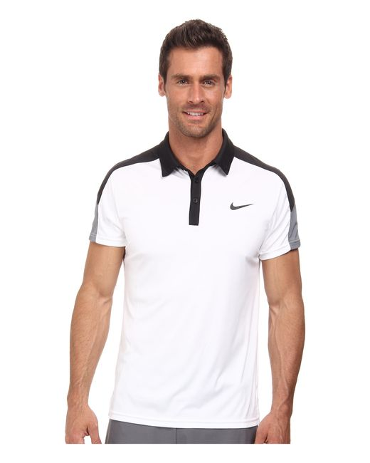 Nike | Black Team Court Polo for Men | Lyst